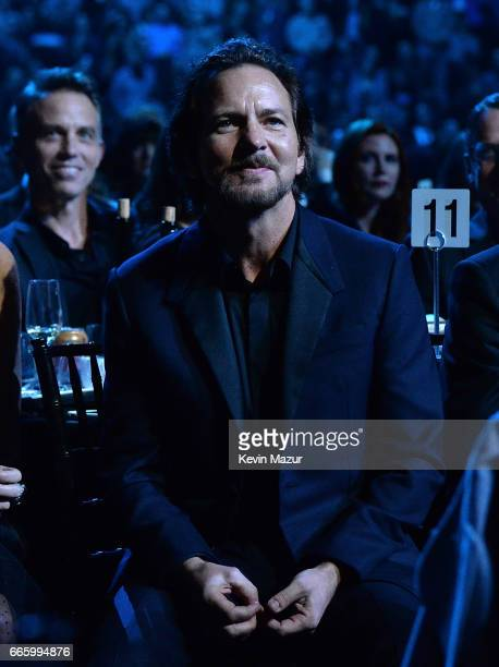 Inductee Eddie Vedder of Pearl Jam attends 32nd Annual Rock Roll Hall Of Fame Induction Ceremony at Barclays Center on April 7 2017 in New York City...