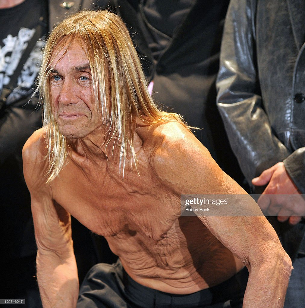 Inductee Iggy Pop of The Stooges attends the 25th Annual Rock and Roll Hall of Fame Induction Ceremony at The Waldorf-Astoria on March 15, 2010 in New York, New York.