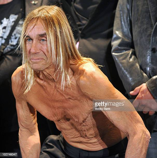 Inductee Iggy Pop of The Stooges attends the 25th Annual Rock and Roll Hall of Fame Induction Ceremony at The WaldorfAstoria on March 15 2010 in New...