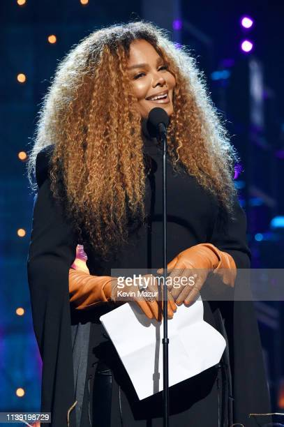 Inductee Janet Jackson speaks onstage during the 2019 Rock Roll Hall Of Fame Induction Ceremony Show at Barclays Center on March 29 2019 in New York...