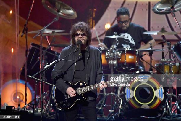 Inductee Jeff Lynne of ELO performs onstage at the 32nd Annual Rock & Roll Hall Of Fame Induction Ceremony at Barclays Center on April 7, 2017 in New...