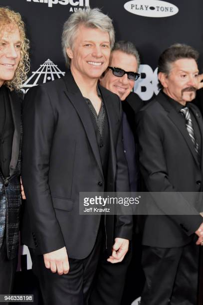 Inductee Jon Bon Jovi attends the 33rd Annual Rock & Roll Hall of Fame Induction Ceremony at Public Auditorium on April 14, 2018 in Cleveland, Ohio.