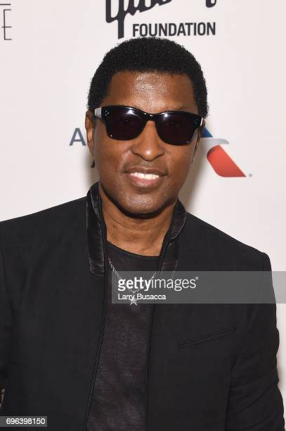 Inductee Kenneth Babyface Edmonds poses backstage at the Songwriters Hall Of Fame 48th Annual Induction and Awards at New York Marriott Marquis Hotel...