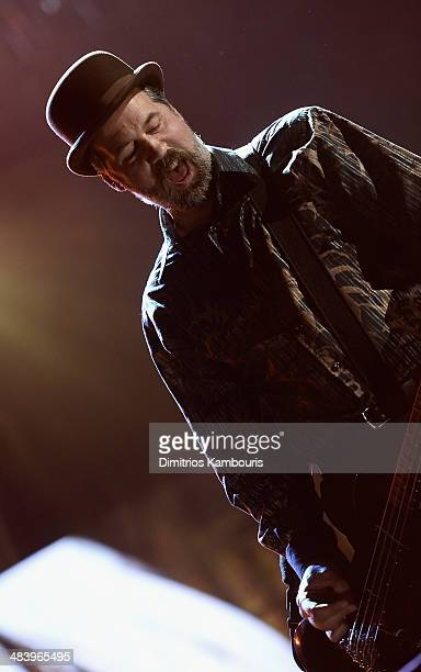Inductee Krist Novoselic of Nirvana performs onstage at the 29th Annual Rock And Roll Hall Of Fame Induction Ceremony at Barclays Center of Brooklyn...