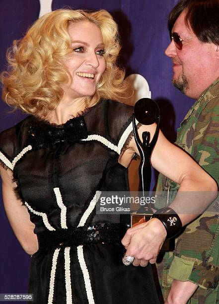 Inductee Madonna poses in the press room at the 2008 Rock and Roll Hall of Fame Induction Ceremony at The WaldorfAstoria Hotel on March 10 2008 in...
