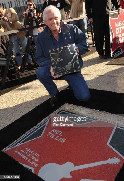 Inductee Mel Tillis at the 2010 Nashville Music City Walk of Fame Induction Ceremony at Walk of Fame Park on November 7 2010 in Nashville City