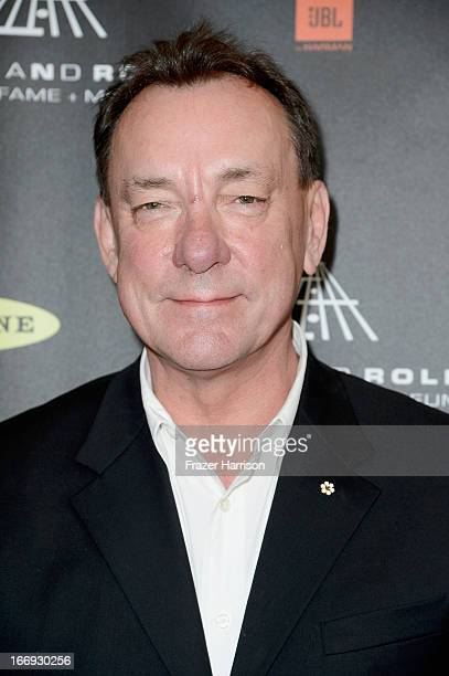 Inductee Neil Peart of Rush attends the 28th Annual Rock and Roll Hall of Fame Induction Ceremony at Nokia Theatre LA Live on April 18 2013 in Los...