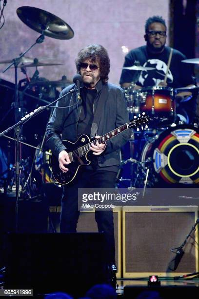 Inductee of ELO performs onstage at the 32nd Annual Rock Roll Hall Of Fame Induction Ceremony at Barclays Center on April 7 2017 in New York City The...