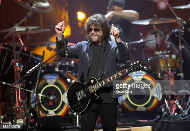 Inductee of ELO performs onstage at the 32nd Annual Rock & Roll Hall Of Fame Induction Ceremony at Barclays Center on April 7, 2017 in New York City....