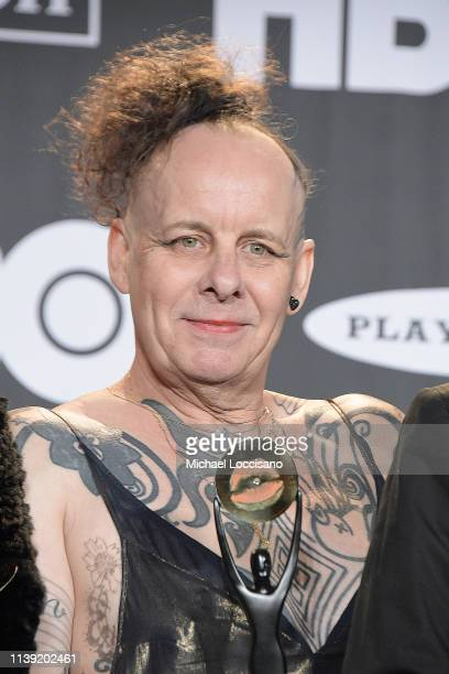 Inductee Pearl Thompson of The Cure poses in the press room during the 2019 Rock Roll Hall Of Fame Induction Ceremony Press Room at Barclays Center...