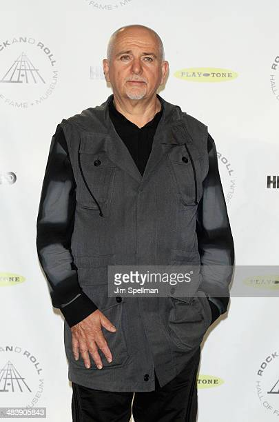 Inductee Peter Gabriel attends the 29th Annual Rock And Roll Hall Of Fame Induction Ceremony at Barclays Center of Brooklyn on April 10 2014 in New...