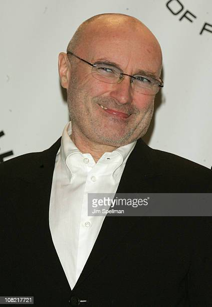 Inductee Phil Collins of Genesis attends the 25th Annual Rock and Roll Hall of Fame Induction Ceremony at Waldorf=Astoria on March 15 2010 in New...