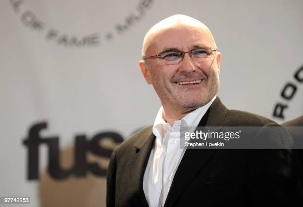 Inductee Phil Collins of Genesis attends the 25th Annual Rock And Roll Hall of Fame Induction Ceremony at the Waldorf=Astoria on March 15 2010 in New...
