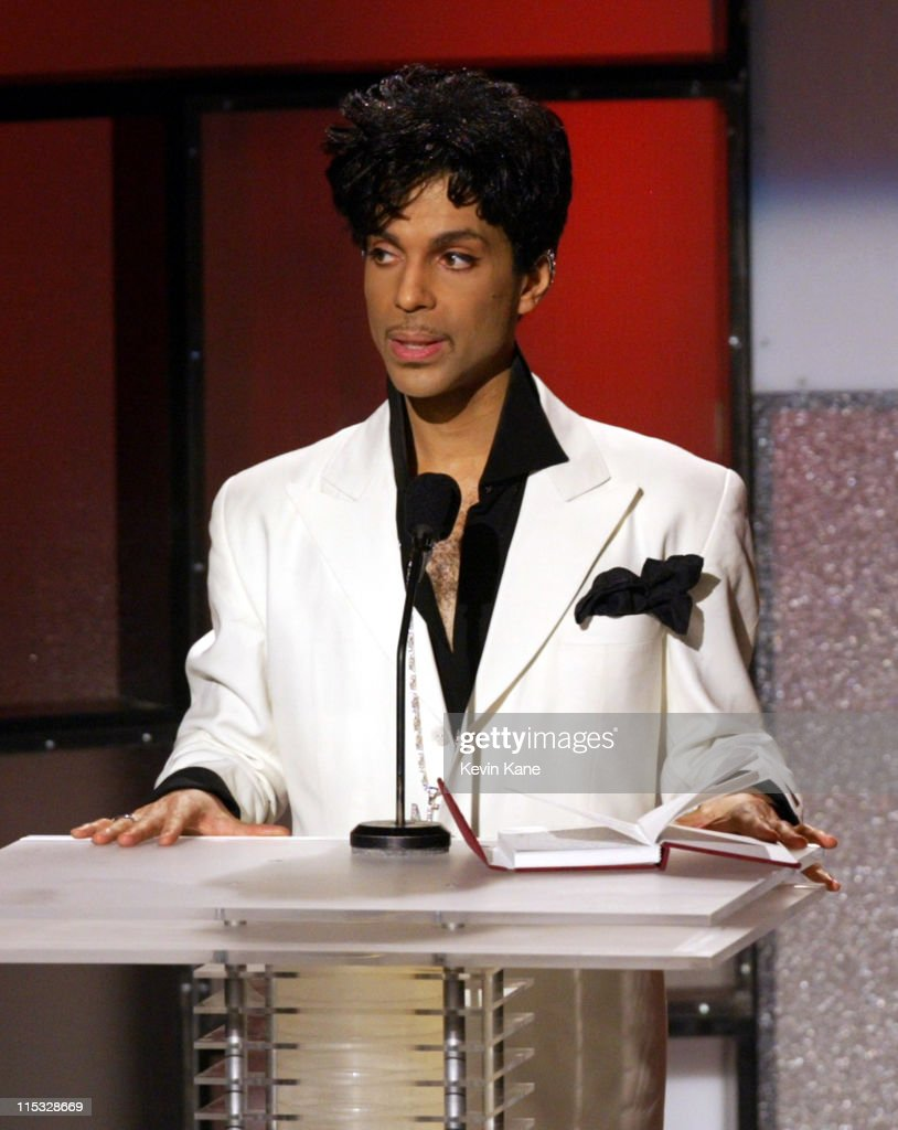 Inductee Prince during The 19th Annual Rock and Roll Hall of Fame Induction Ceremony - Show at Waldorf Astoria in New York City, New York, United States.
