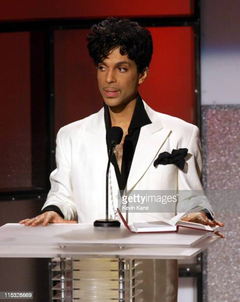 Inductee Prince during The 19th Annual Rock and Roll Hall of Fame Induction Ceremony Show at Waldorf Astoria in New York City New York United States