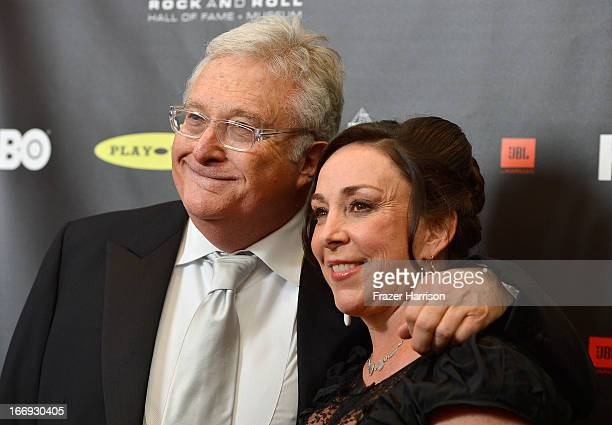 Inductee Randy Newman and wife Gretchen Preece attend the 28th Annual Rock and Roll Hall of Fame Induction Ceremony at Nokia Theatre LA Live on April...