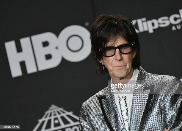 Inductee Ric Ocasek of The Cars attends the 33rd Annual Rock & Roll Hall of Fame Induction Ceremony at Public Auditorium on April 14, 2018 in...