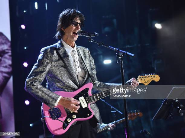 Inductee Ric Ocasek of The Cars performs 33rd Annual Rock & Roll Hall of Fame Induction Ceremony at Public Auditorium on April 14, 2018 in Cleveland,...
