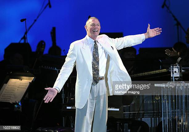 Inductee Richard Carpenter of The Carpenters on stage during the Hollywood Bowl Opening Night Gala held at the Hollywood Bowl on June 18 2009 in...