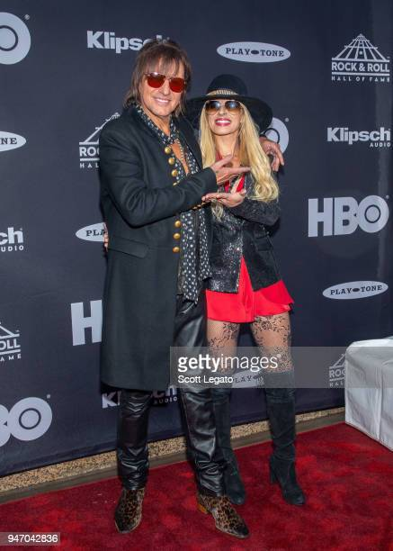 Inductee Richie Sambora of Bon Jovi and Orianthi attend the 33rd Annual Rock Roll Hall of Fame Induction Ceremony at Public Auditorium on April 14...