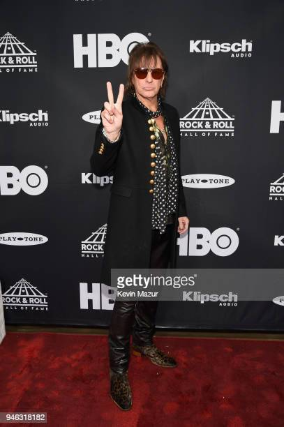 Inductee Richie Sambora of Bon Jovi attends the 33rd Annual Rock Roll Hall of Fame Induction Ceremony at Public Auditorium on April 14 2018 in...