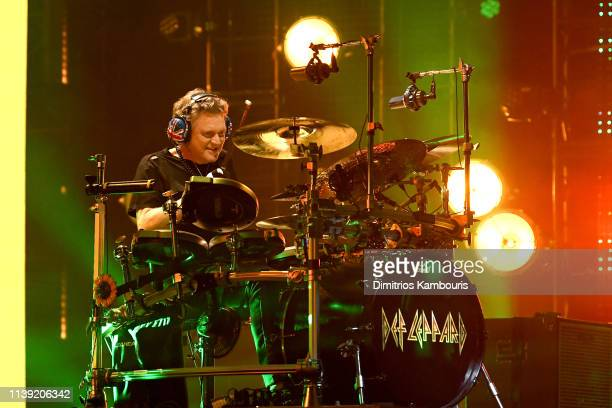 Inductee Rick Allen of Def Leppard performs at the 2019 Rock & Roll Hall Of Fame Induction Ceremony - Show at Barclays Center on March 29, 2019 in...