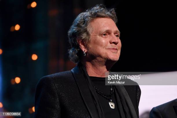 Inductee Rick Allen of Def Leppard speaks onstage at the 2019 Rock & Roll Hall Of Fame Induction Ceremony - Show at Barclays Center on March 29, 2019...