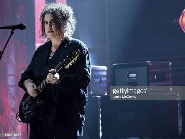 Inductee Robert Smith of The Cure performs at 2019 Rock Roll Hall Of Fame Induction Ceremony Show at Barclays Center on March 29 2019 in New York City