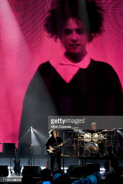 Inductee Robert Smith of The Cure performs onstage at at the 2019 Rock Roll Hall Of Fame Induction Ceremony Show at Barclays Center on March 29 2019...