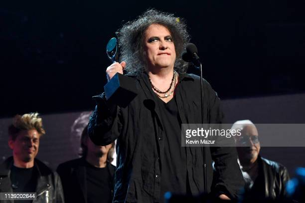 Inductee Robert Smith of The Cure speaks onstage at the 2019 Rock Roll Hall Of Fame Induction Ceremony Show at Barclays Center on March 29 2019 in...