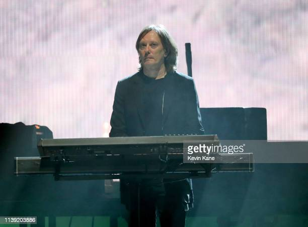 Inductee Roger O'Donnell of The Cure performs at the 2019 Rock Roll Hall Of Fame Induction Ceremony Show at Barclays Center on March 29 2019 in New...