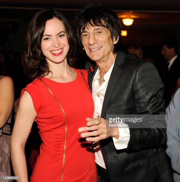 Inductee Ron Wood of Faces attends the 27th Annual Rock And Roll Hall Of Fame Induction Ceremony at Public Hall on April 14, 2012 in Cleveland, Ohio.