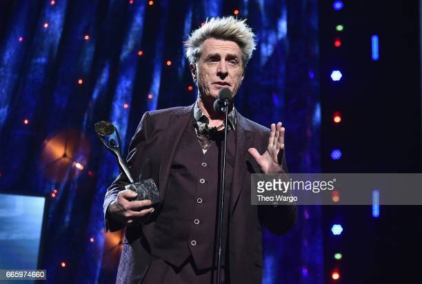 Inductee Ross Valory of Journey speaks onstage at the 32nd Annual Rock Roll Hall Of Fame Induction Ceremony at Barclays Center on April 7 2017 in New...