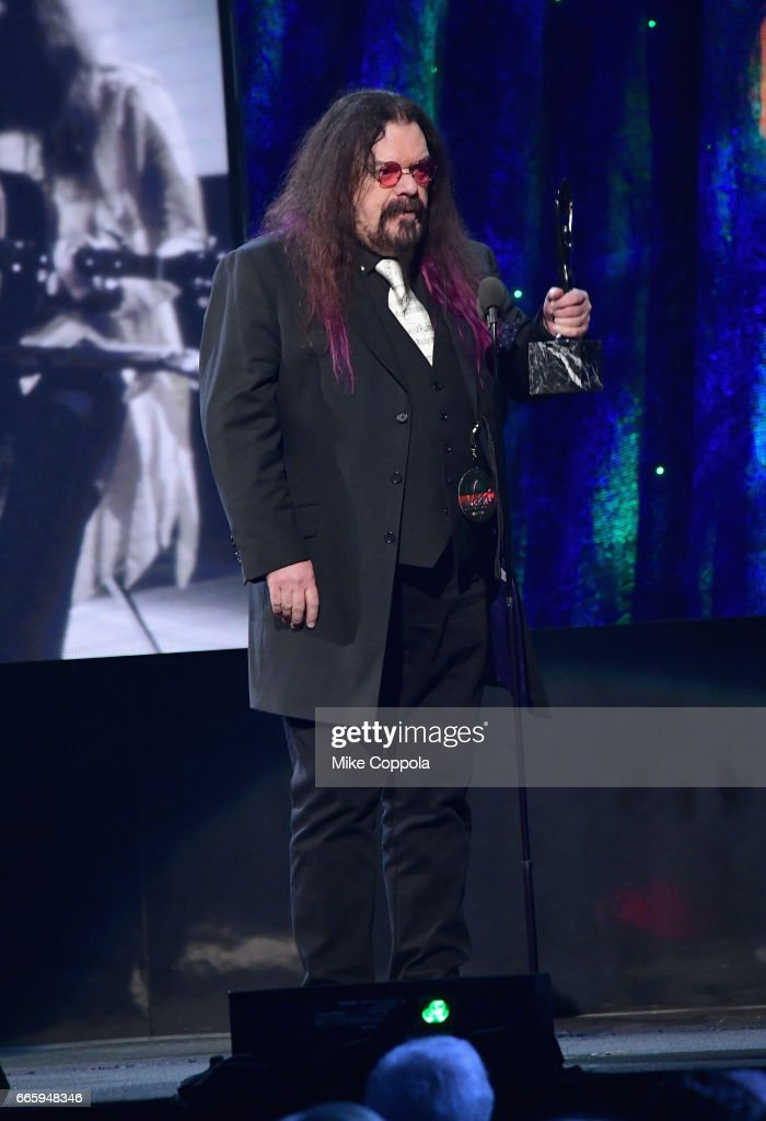 Inductee Roy Wood of ELO speaks onstage at the 32nd Annual Rock & Roll Hall Of Fame Induction Ceremony at Barclays Center on April 7, 2017 in New York City. The event will broadcast on HBO Saturday, April 29, 2017 at 8:00 pm ET/PT