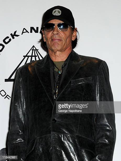 Inductee Scott Asheton of The Stooges attends the 25th Annual Rock And Roll Hall Of Fame Induction Ceremony at the Waldorf=Astoria on March 15 2010...