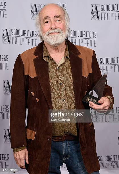 Inductee Singer-songwriter Robert Hunter poses backstage at the Songwriters Hall Of Fame 46th Annual Induction And Awards at Marriott Marquis Hotel...