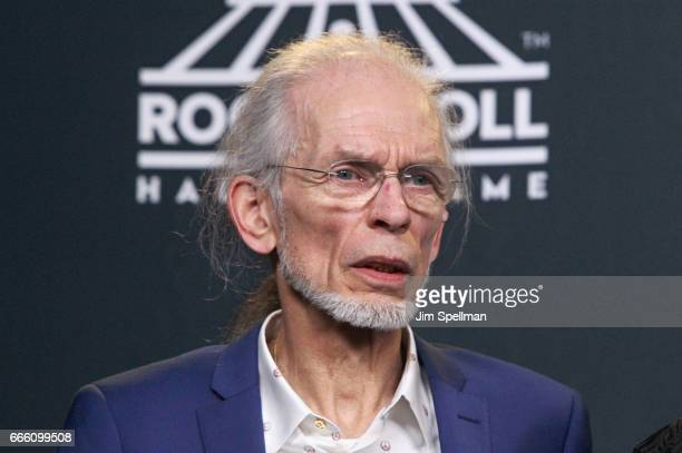 Inductee Steve Howe of yes attends the Press Room of the 32nd Annual Rock Roll Hall Of Fame Induction Ceremony at Barclays Center on April 7 2017 in...