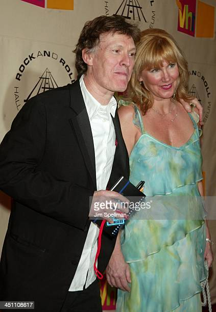 Inductee Steve Winwood of Traffic and wife Eugenia Winwood