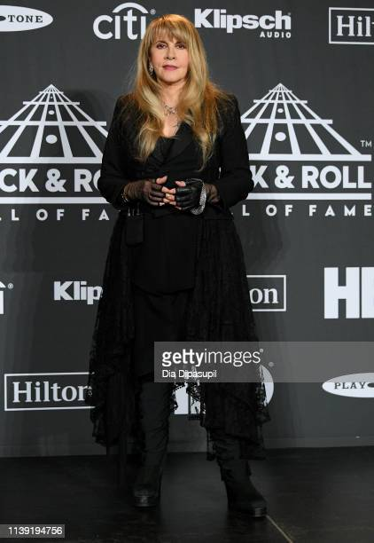 Inductee Stevie Nicks attends the 2019 Rock & Roll Hall Of Fame Induction Ceremony at Barclays Center on March 29, 2019 in New York City.
