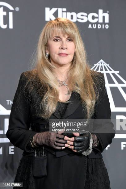 Inductee Stevie Nicks attends the 2019 Rock & Roll Hall Of Fame Induction Ceremony - Press Room at Barclays Center on March 29, 2019 in New York City.