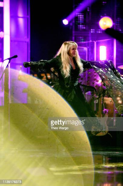 Inductee Stevie Nicks performs at the 2019 Rock Roll Hall Of Fame Induction Ceremony Show at Barclays Center on March 29 2019 in New York City