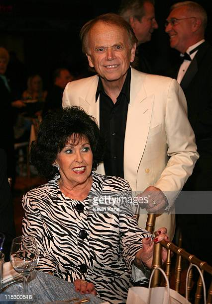 Inductee Wanda Jackson and Al Jardine of the Beach Boys attend the 24th Annual Rock and Roll Hall of Fame Induction Ceremony at Public Hall on April...