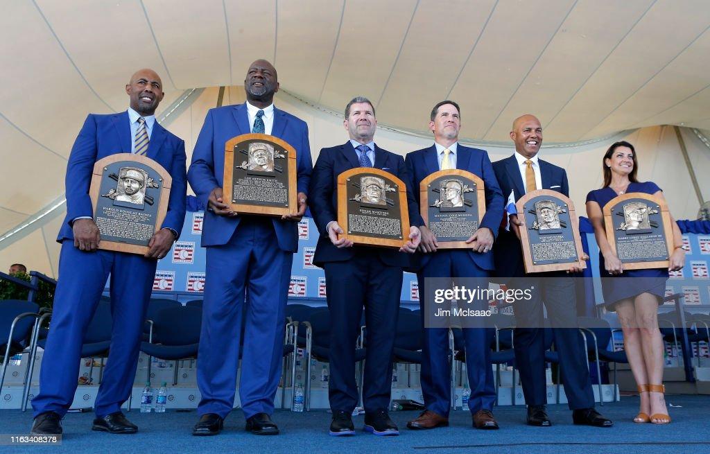 National Baseball Hall of Fame Induction Ceremony : News Photo