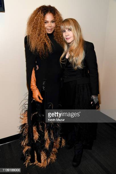 Inductees Janet Jackson and Stevie Nicks attend the 2019 Rock Roll Hall Of Fame Induction Ceremony Show at Barclays Center on March 29 2019 in New...