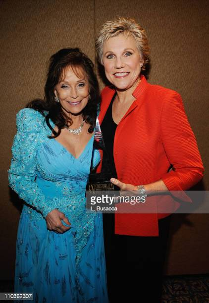 Inductees Loretta Lynn and Anne Murray attend the 39th Annual Songwriters Hall of Fame Ceremony at the Marriott Marquis on June 19 2008 in New York...