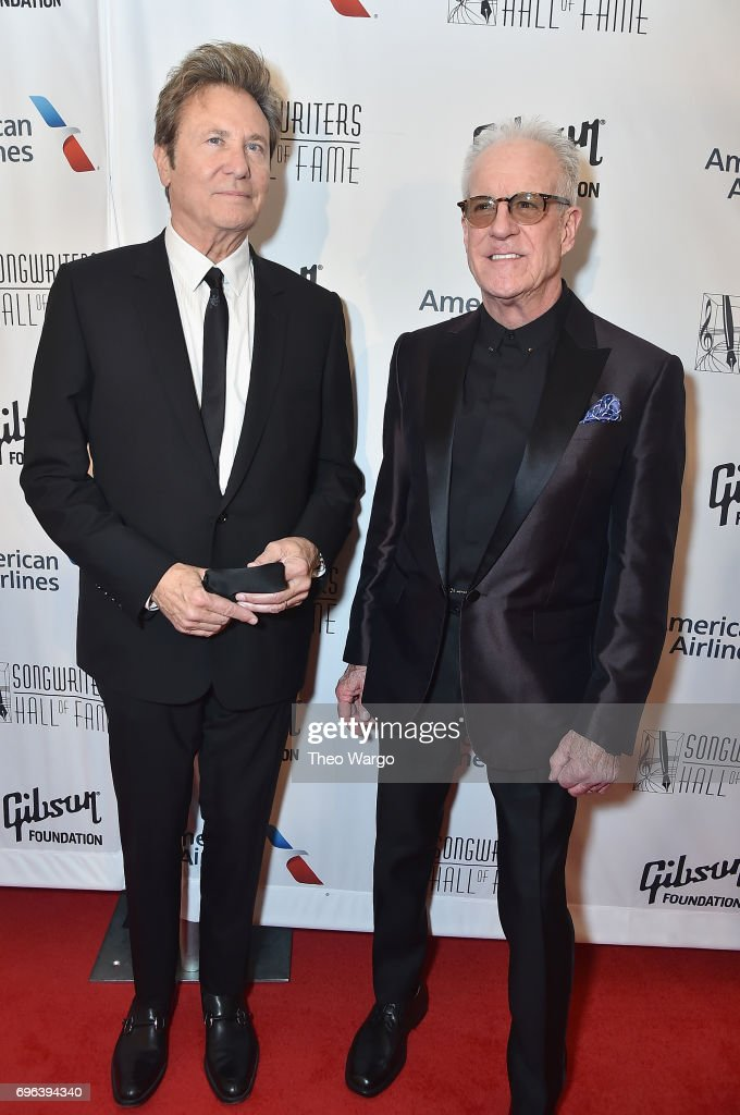 Inductees Robert Lamm and James Pankow attend the Songwriters Hall Of Fame 48th Annual Induction and Awards at New York Marriott Marquis Hotel on June 15, 2017 in New York City.