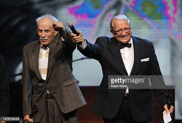 Inductees The Comets accept an award onstage during the 27th Annual Rock And Roll Hall Of Fame Induction Ceremony at Public Hall on April 14 2012 in...