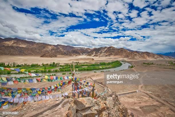 Indus-Tal in Ladakh, Nordindien, gesehen vom Stakna Gompa