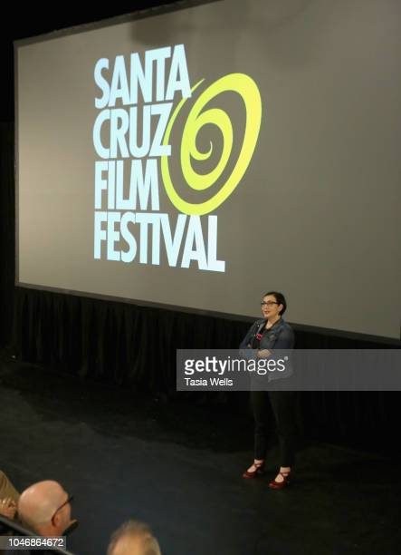 'Industrial Accident The Story of Wax Trax Records' director Julia Nash speaks onstage 2018 Santa Cruz Film Festival on October 6 2018 in Santa Cruz...