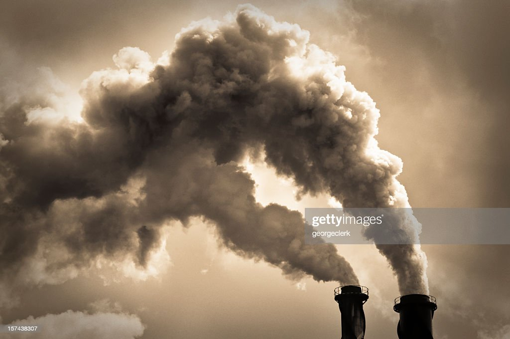 Industrial Air Pollution : Stock Photo